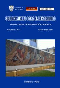 Revista Conocimiento para el Desarrollo V°7N°1 – Chimbote 2016