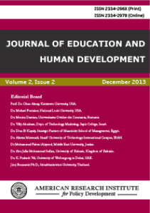 journalofeducationandhumandevelopment