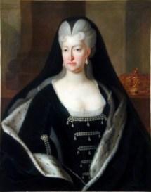 Robert Gabriel Genze: La Reina viuda Mariana de Neoburgo a la edad de 50 o 55 años. Francia, Museo Vasco de Bayona.