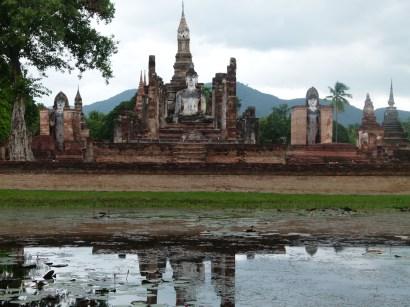 Vista de Wat Mahathat, Sukhothai