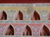 Parte de las pinturas reconstruídas basado en los vestigios y catas realizadas