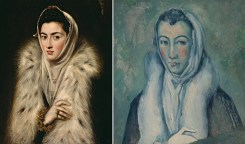 La dama del armiño / Paul Cézanne- La dama del armiño, según el Greco