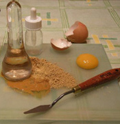 Ingredientes para el temple