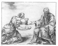 Sebastián Herrera Barnuevo: El Profeta Elías y la Sarepta. Museo del Louvre, París.