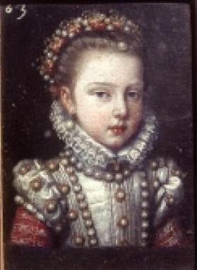 Anónimo: Isabel Clara Eugenia, c.1575. Galleria degli Uffizi, Florencia.