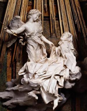 Gian Lorenzo Bernini: Éxtasis de Santa Teresa. Capilla Cornaro, Santa Maria de la Victoria, Roma.