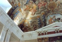 Juan Delgado: Detalle fresco de la Capilla de la Inmaculada, Instituto San lsidro, Madrid.