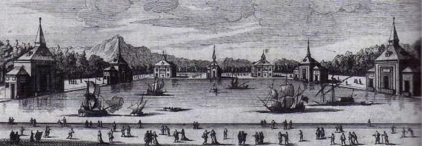 Louis Meunier: Naumaquia en el estanque del Buen Retiro. Museo de Historia de Madrid.