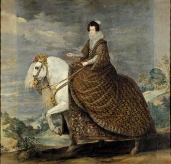 Diego Velázquez: Retrato ecuestre de Isabel de Borbón. Museo Nacional del Prado, Madrid.