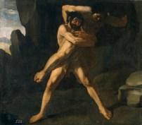 Francisco Zurbarán: Hércules y Anteo. Museo Nacional del Prado, Madrid.