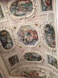 Fresco que representa diversos episodios de la historia de la ninfa Calisto. Palacio del Viso del Marqués.