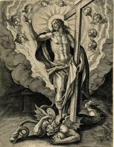 Marten de Vos: Jesús victorioso sobre el Demonio.