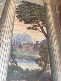 """Vistas fingidas de paisaje en el """"Salón de Honor"""". Palacio del Viso del Marqués."""