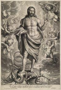 Schelte Adams Bolswert: Cristo triunfante sobre la muerte.