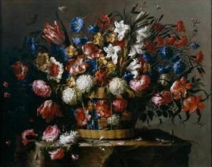 Juan de Arellano: Cesta de flores. Madrid, Museo Nacional del Prado.