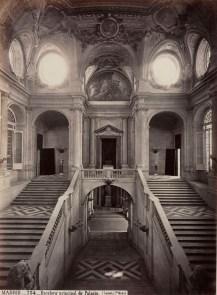Jean Laurent. Foto de la escalera del Palacio Real de Madrid. Foto: BNE