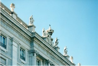 Palacio Real. Detalle de la cornisa en la Puerta del Príncipe.