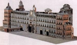 Maqueta de la fachada del Alcázar de Madrid (anónimo del siglo XVII) Madrid, Museo de Historia (antiguo Museo Municipal).