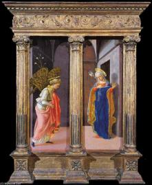 Fra Filippo Lippi: La Anunciación. The Frick Collection.