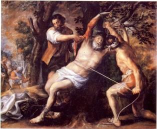 Francisco Camilo: Martirio de San Bartolomé. Museo del Prado. Procendente del convento de carmelitas descalzos de San Hermenegildo en Madrid.