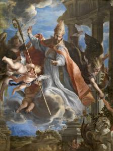 Claudio Coello: San Agustín. Museo del Prado. Procedente del convento de agustinos recoletos de Alcalá de Heneres.