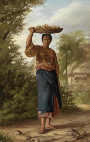 Félix Resurrección Hidalgo: La vendedora de lanzones. 1875. Museo del Prado.