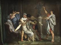 Eduardo Rosales: La muerte de Lucrecia. 1871. Museo del Prado.