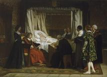 Eduardo Rosales: El testamento de Isabel la Católica. 1861. Museo del Prado.