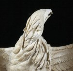 Detalle de la cabeza del águila de la Apoteosis de Claudio.
