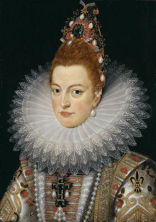 Frans Pourbus el joven: Retrato de Isabel Clara Eugenia, Archiduquesa de Austria. Groeningemuseum.