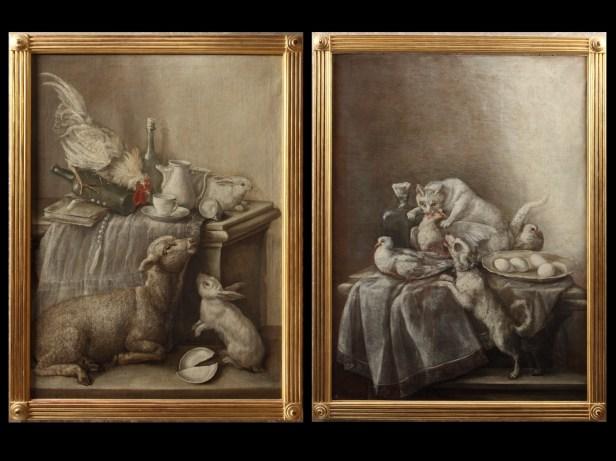 Mariano Nani: Bodegones en grisalla. Patrimonio Nacional.