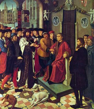 Gerard David: El rey Cambises y el juez Sisamnes, 1498. Musée Communal, Brujas.