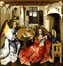 Maestro de Flemalle: La Anunciación, 1425. Metropolitan Museum, Nueva York.