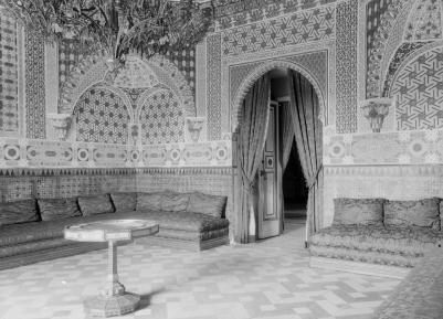 Otto Wunderlich: Gabinete árabe. Palacio de Aranjuez. Foto: IPCE.