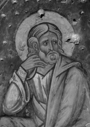 Detalle de San José en una de las pinturas de Sijena. Foto: Instituto Amatller.