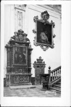 Retablo de la coronación y lienzo en la zona de acceso de la Iglesia. El Paular. Foto: Archivo Loty IPCE.
