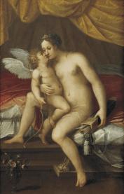 Lavinia Fontana: Venus y Cupido. Colección particular.