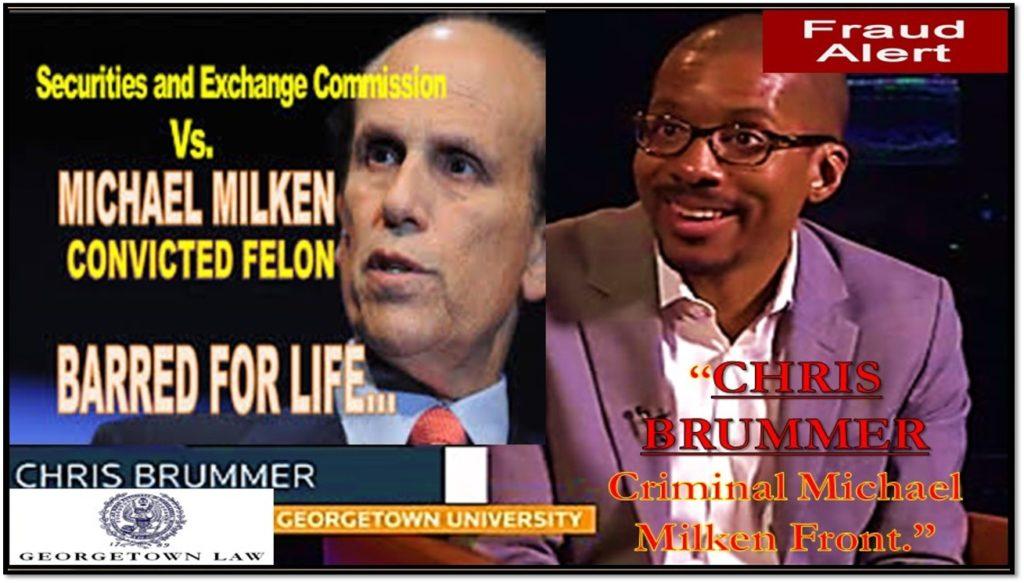 Cftc Nominee Chris Brummer Michael Milken Front