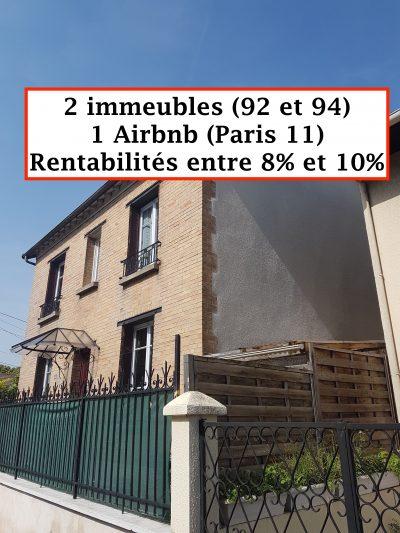 2 immeubles et 1 Airbnb