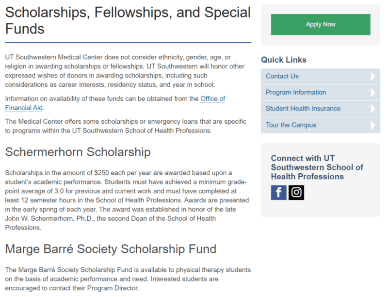 medical school scholarships