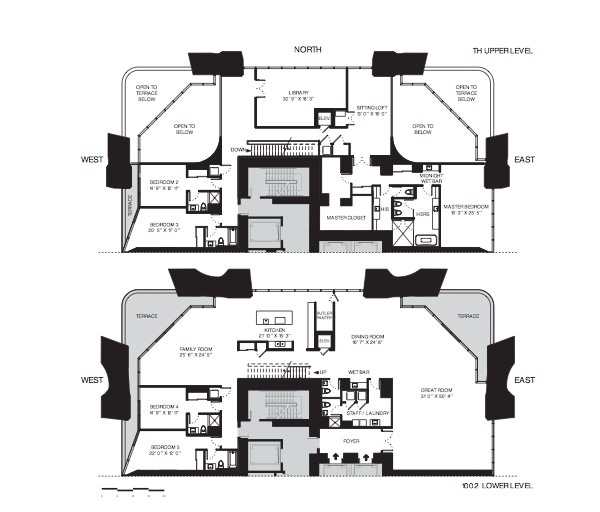 One Thousand Museum Floor Plans Townhouse Residences
