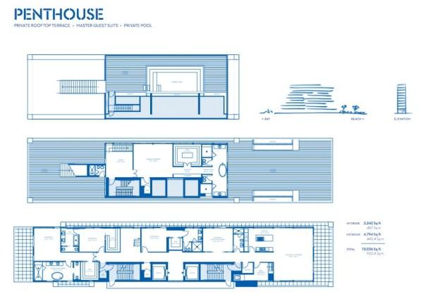 Beach house 8 miami beach luxury condominium for Beach house design pdf