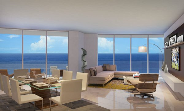 Paramount Fort Lauderdale Living Room