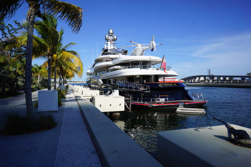 Billionaires Mega Yacht Attessa Iv Docked In Miami