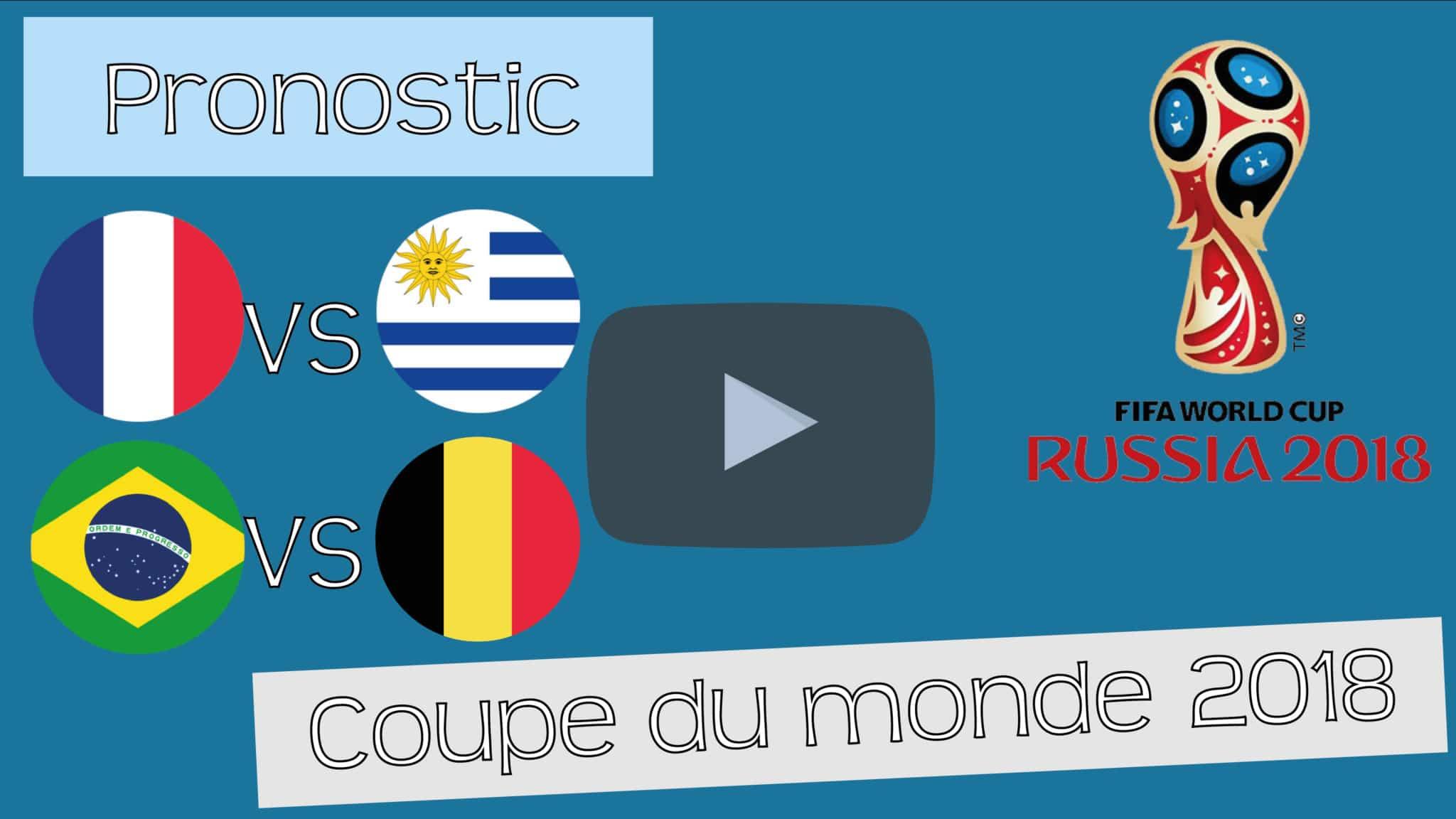 [Public CDM 2018] Pronostics 11 et 12 – Uruguay / France – Brésil / Belgique – Coupe du Monde