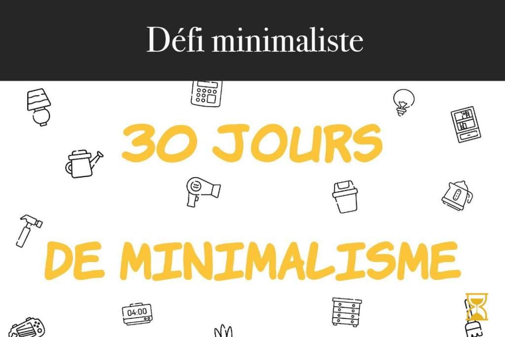 Défi 30 jours de minimalisme
