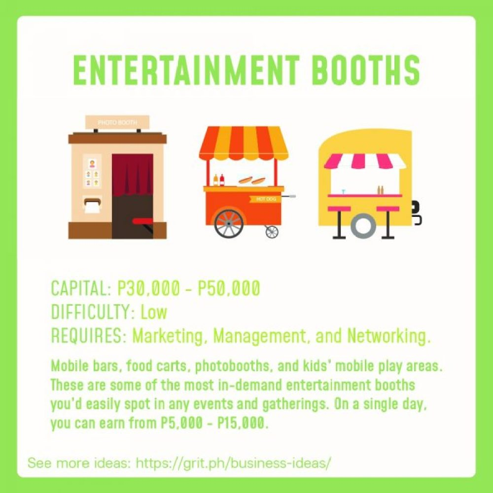 small business idea entertainment booth