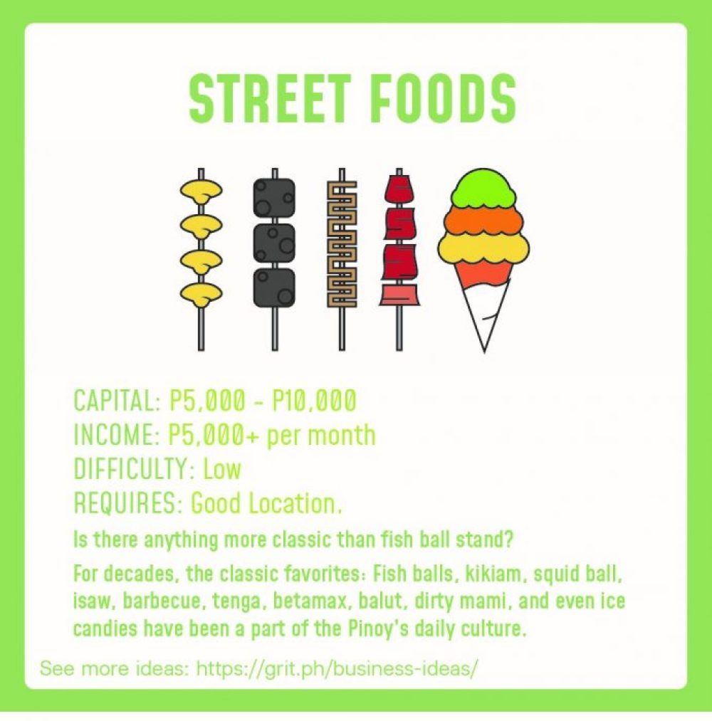 small business idea street foods