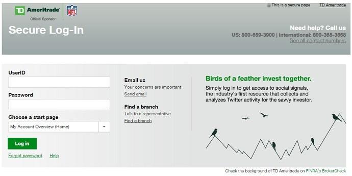 TD Ameritrade Online Stock Trading Platform