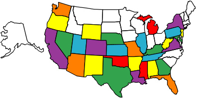 Us Map With Abbreviations Quiz Us Map Blank Quiz Online Mapping - Us abbreviations map